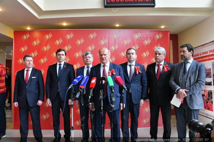 «Отвечая на вызовы времени». В перерыве XVIII съезда КПРФ состоялся пресс-подход Г.А. Зюганова